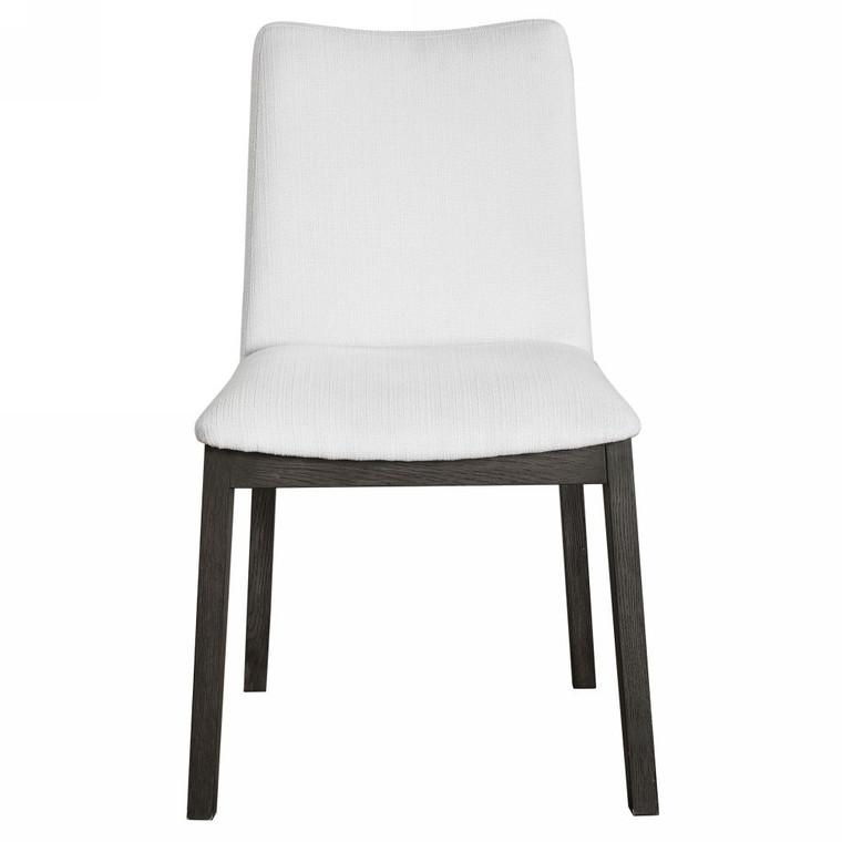 Delano White Armless Chair Set/2 - Size: 88H x 50W x 61D (cm)