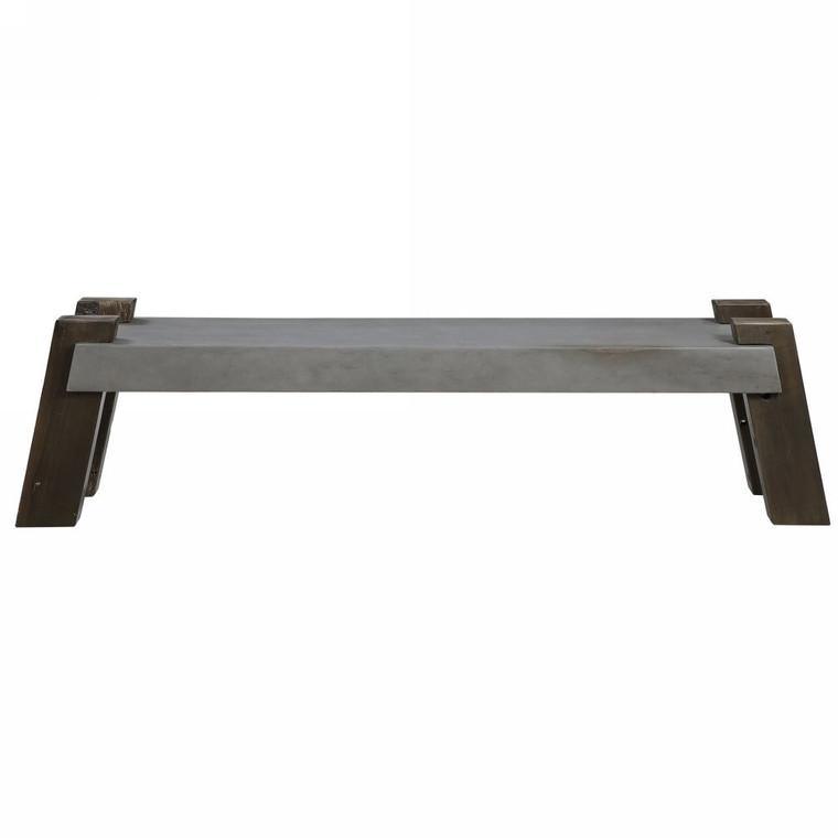 Lavin Industrial Concrete Bench - Size: 46H x 182W x 41D (cm)