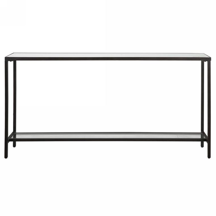 Hayley Black Console Table - Size: 79H x 152W x 25D (cm)