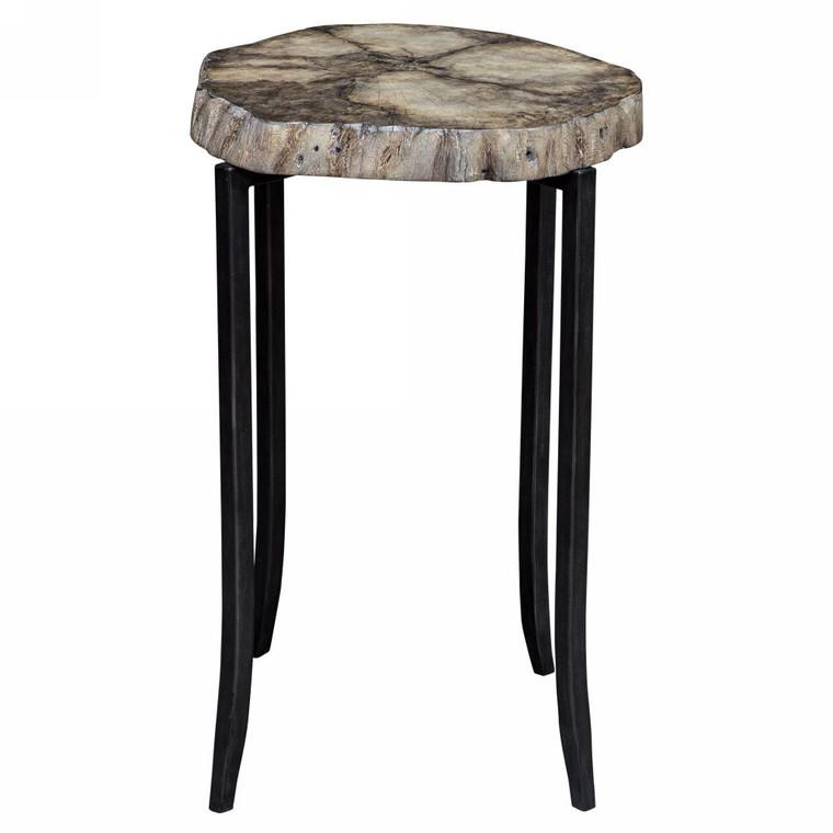 Stiles Rustic Accent Table - Size: 58H x 47W x 47D (cm)