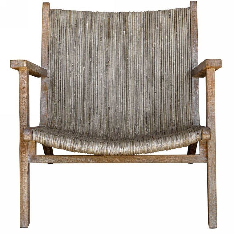Aegea Rattan Accent Chair - Size: 71H x 75W x 84D (cm)