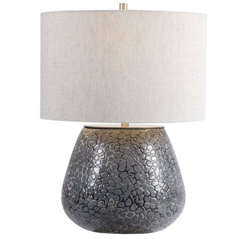 Pebbles Metallic Gray Table Lamp - Size: 56H x 41W x 41D (cm)