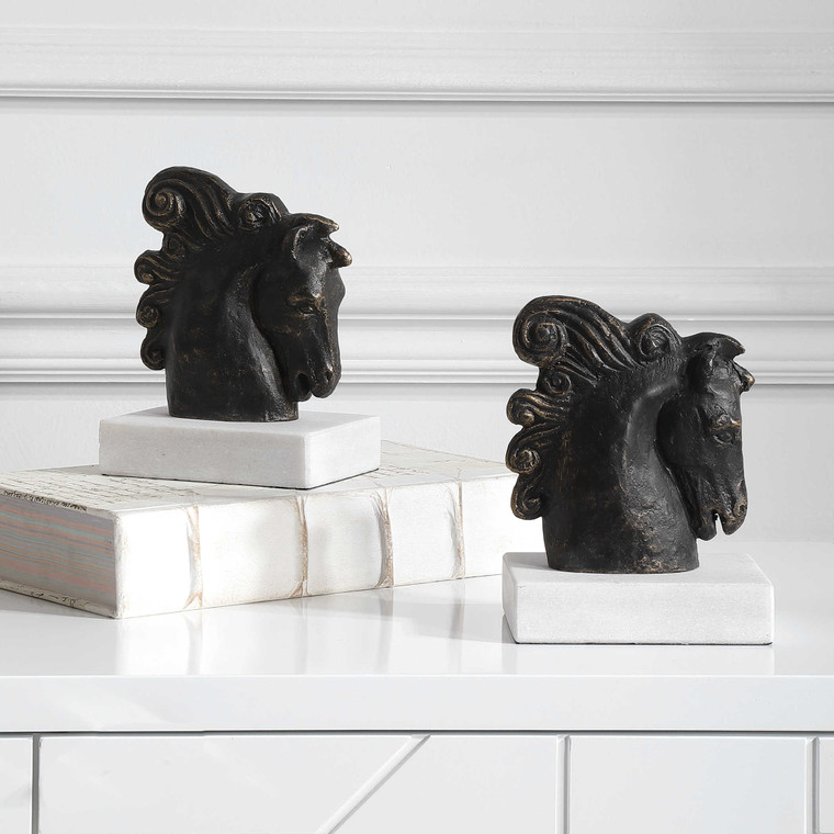 Friesian Bookends S/2 -In Stock