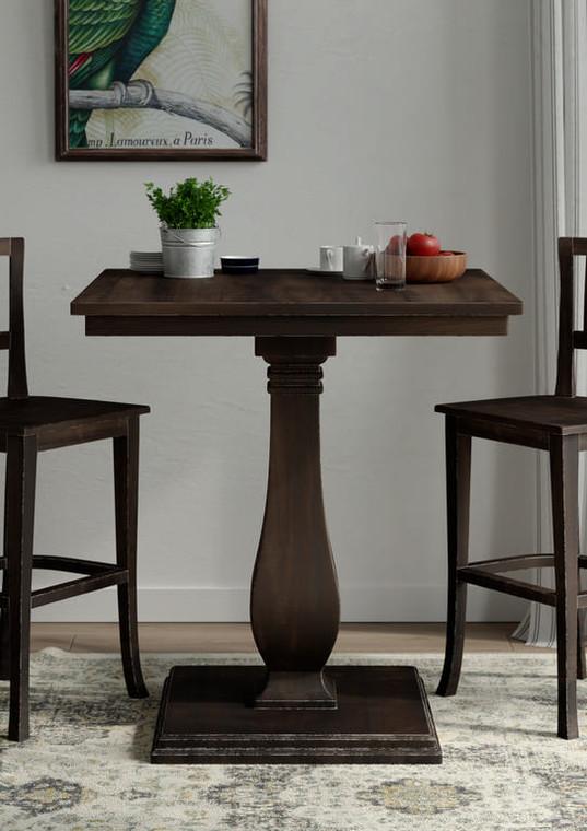 Provincial Bar Table - Size: 109H x 102W x 102D (cm)