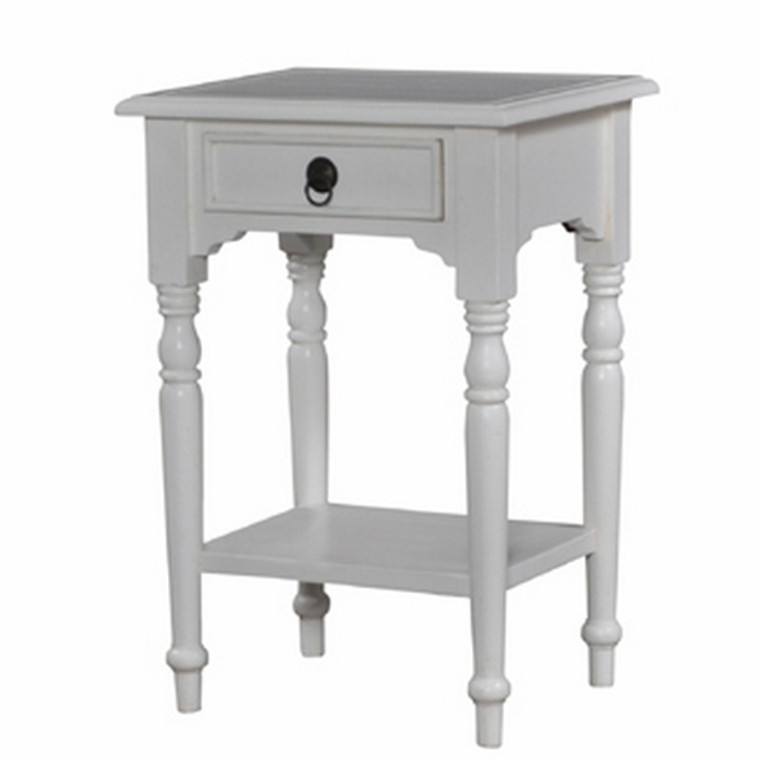 Tucker Side Table w/Shelf - Size: 72H x 50W x 40D (cm)