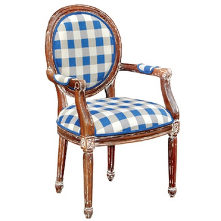 Tulip Dining Chair W/Arms - Size: 102H x 61W x 60D (cm)
