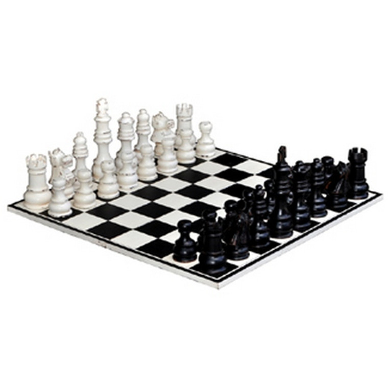 Gentlemens Club Chess Set - Size: 28H x 80W x 80D (cm)