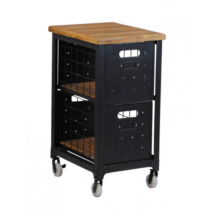 Industrial Filing Cabinet - 2 Drawer - Black