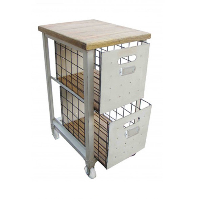 Industrial Filing Cabinet - 2 Drawer - White