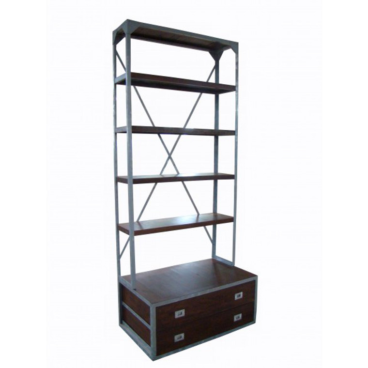 Portside Bookcase with 2 Drawers