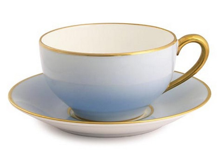 Limoges Legle Breakfast Cup & Saucer - Ice Blue