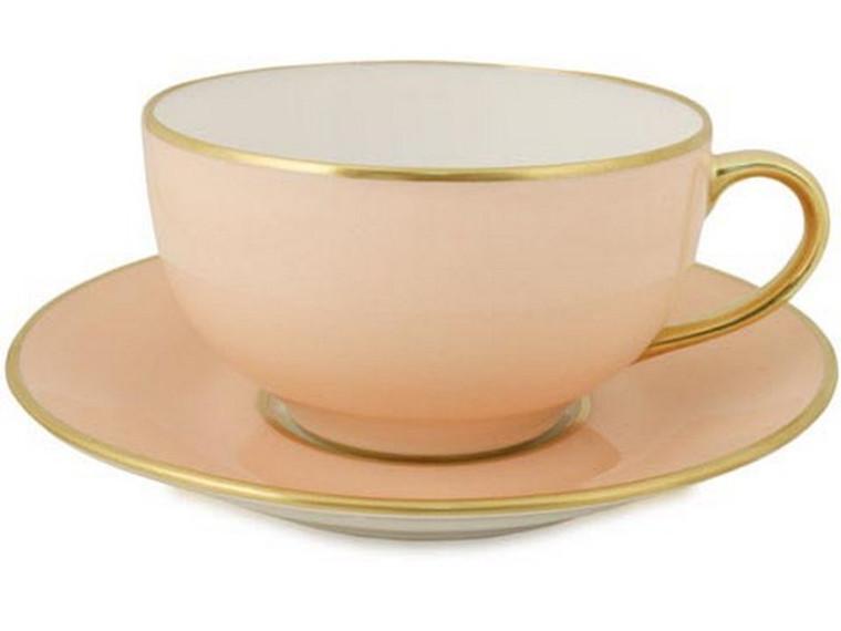 Limoges Legle Breakfast Cup & Saucer - Rose Petal