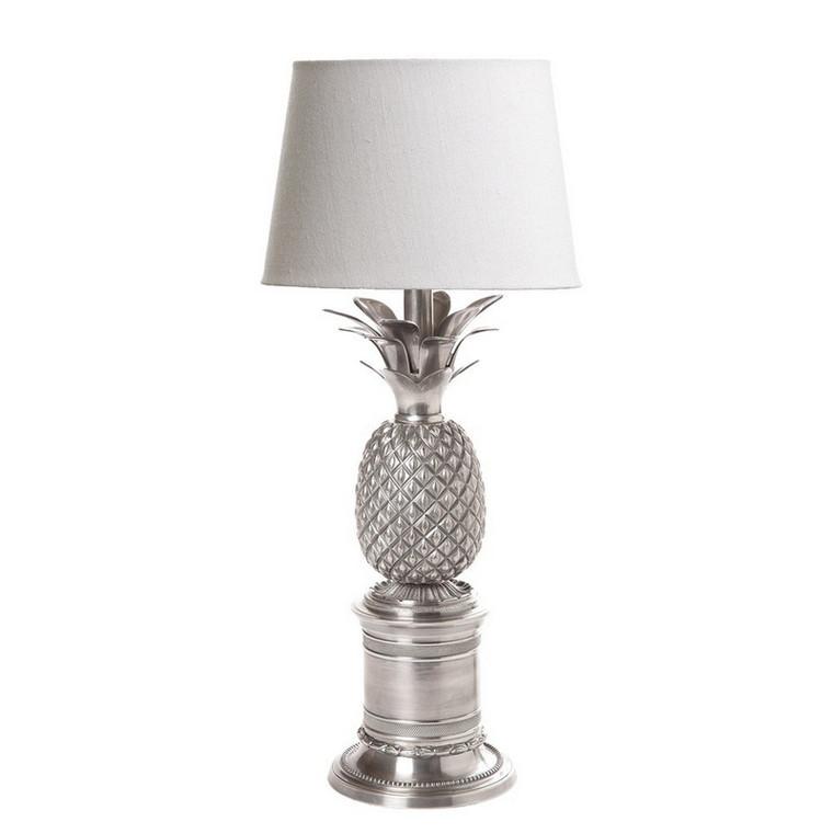 Bermuda Pineapple Table Lamp - Antique Silver