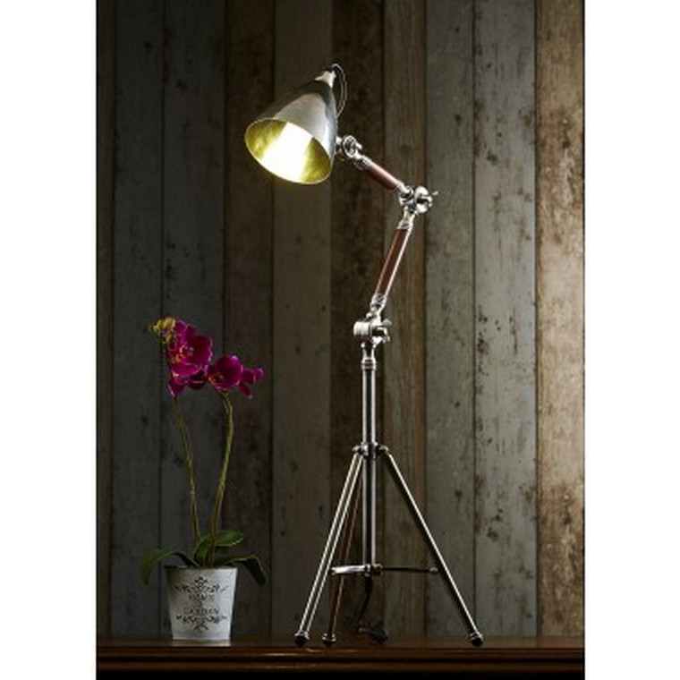 Dolby Tripod Table Lamp - Antique Silver
