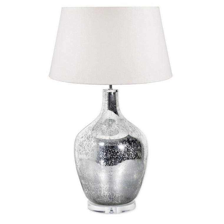 Large Fortuna Mercury Glass Table Lamp