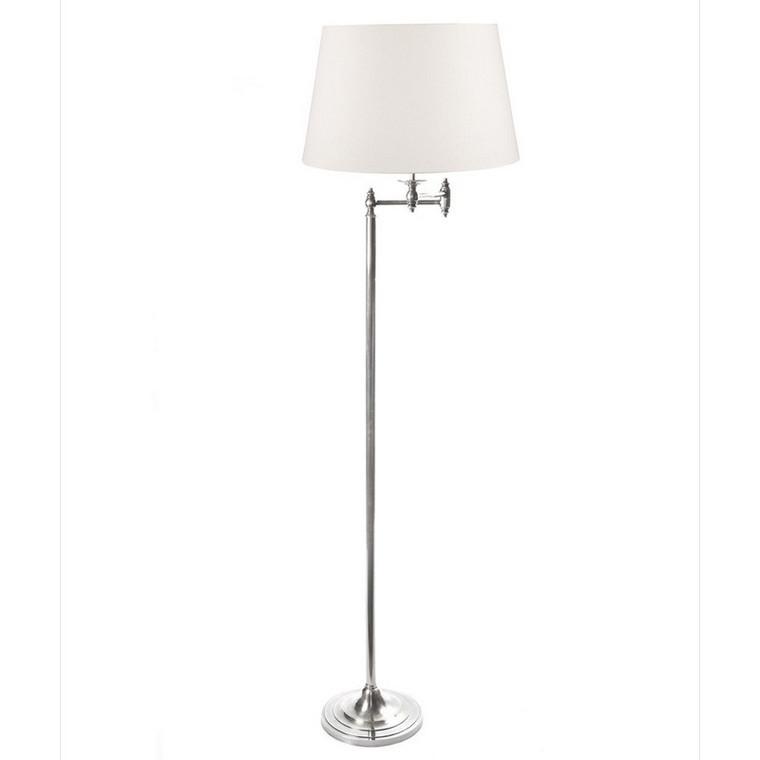 Macleay Floor Lamp - Antique Silver