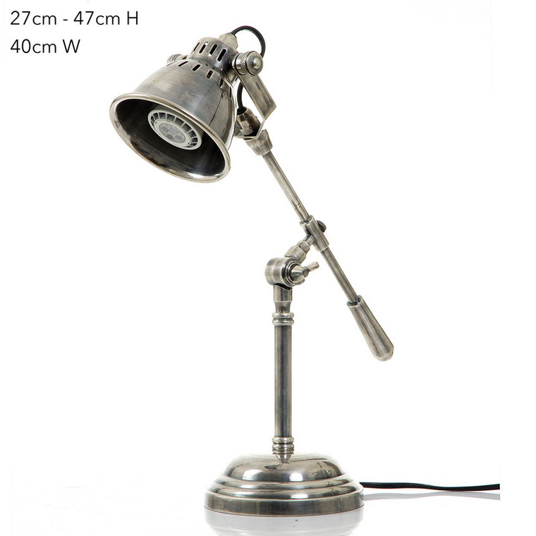 Newcastle Table Lamp - Antique Silver