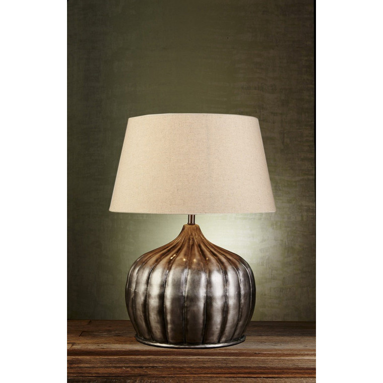 Pumpkin Table Lamp - Silver