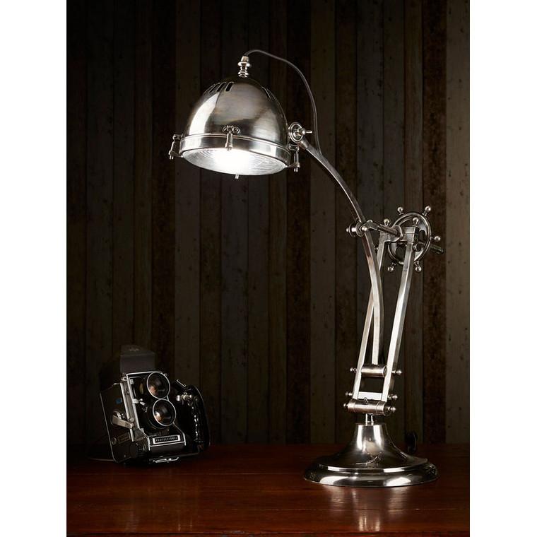 Seabury Desk Lamp - Antique Silver