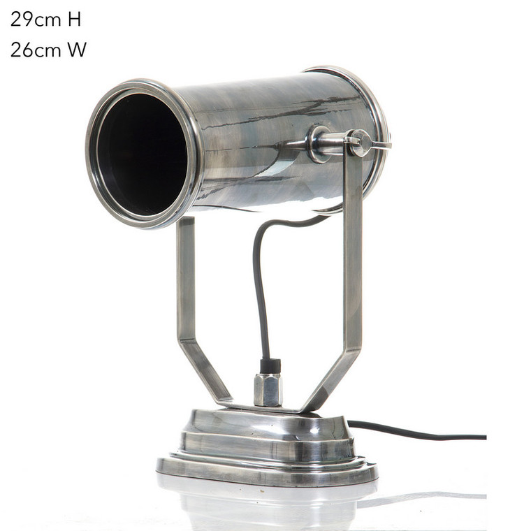 Sussex Table Lamp - Antique Silver