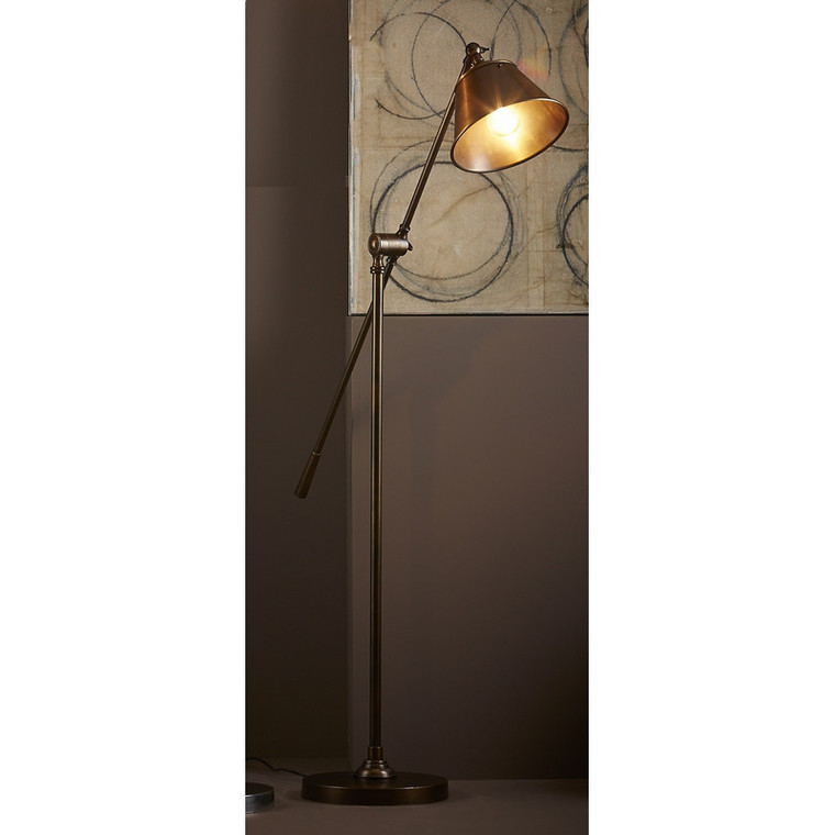 Winslow Floor Lamp - Antique Brass