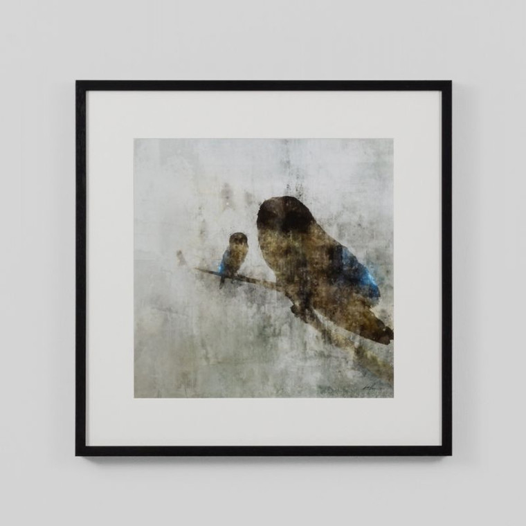 Framed Print: Mama Owl And Baby