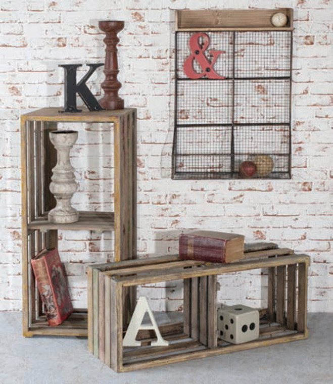"Appleyard Crates 36x16x14"" & 33x14x12"" (s/2) Gallery Direct"