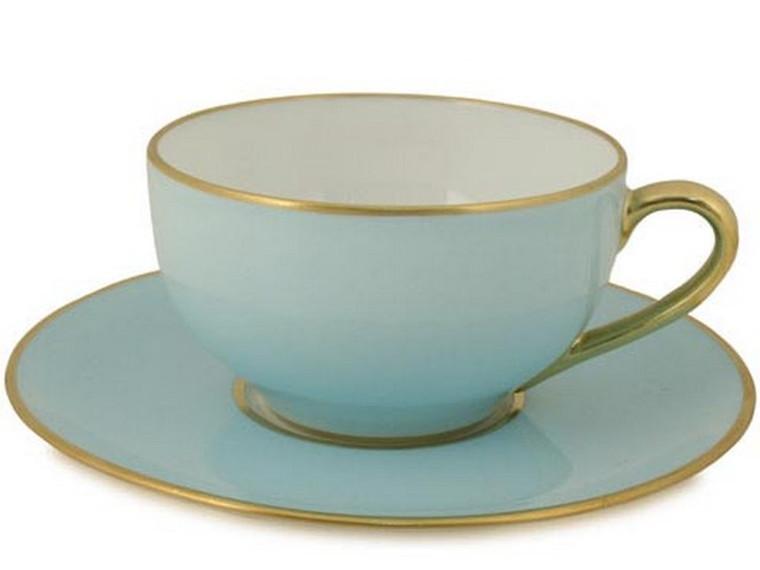Limoges Legle Tea Cup & Saucer - Pastel Blue