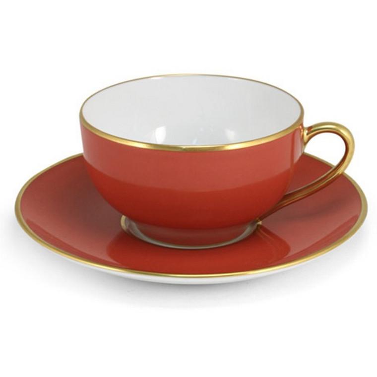 Limoges Legle Tea Cup & Saucer - Rose