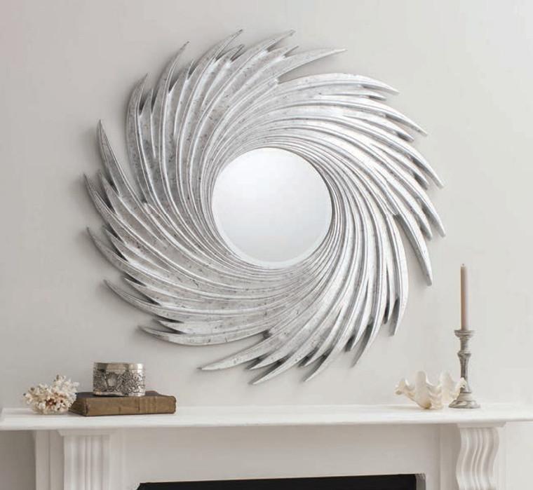 "Sandringham Mirror Silver 45"""" Gallery Direct"""""