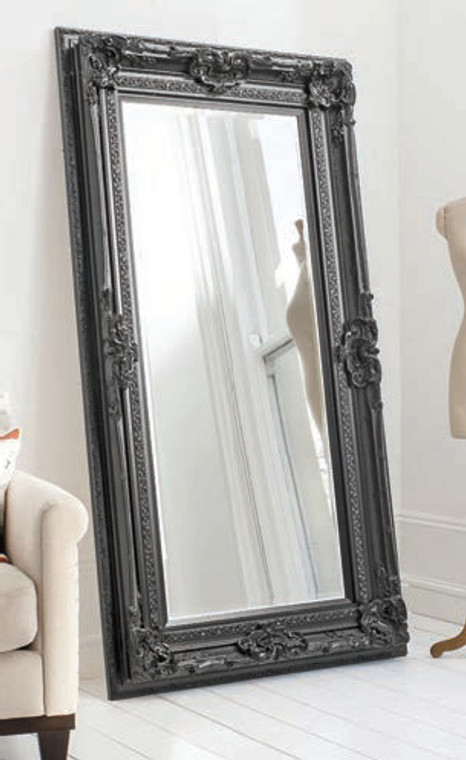 "Valois Mirror Black 72x38"""" Gallery Direct"""""
