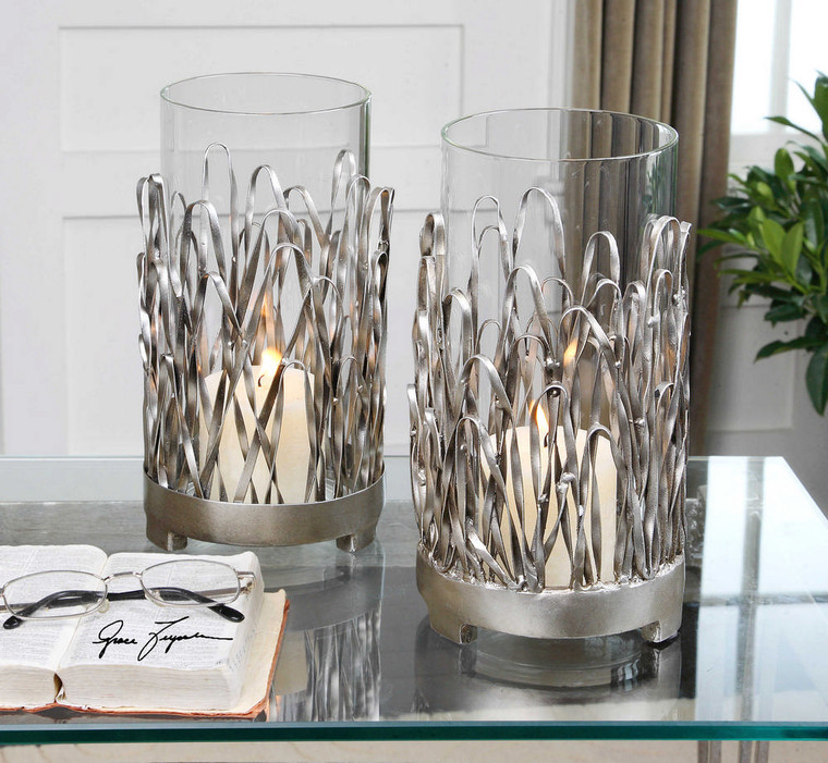Corbis Candleholders S/2 by Uttermost