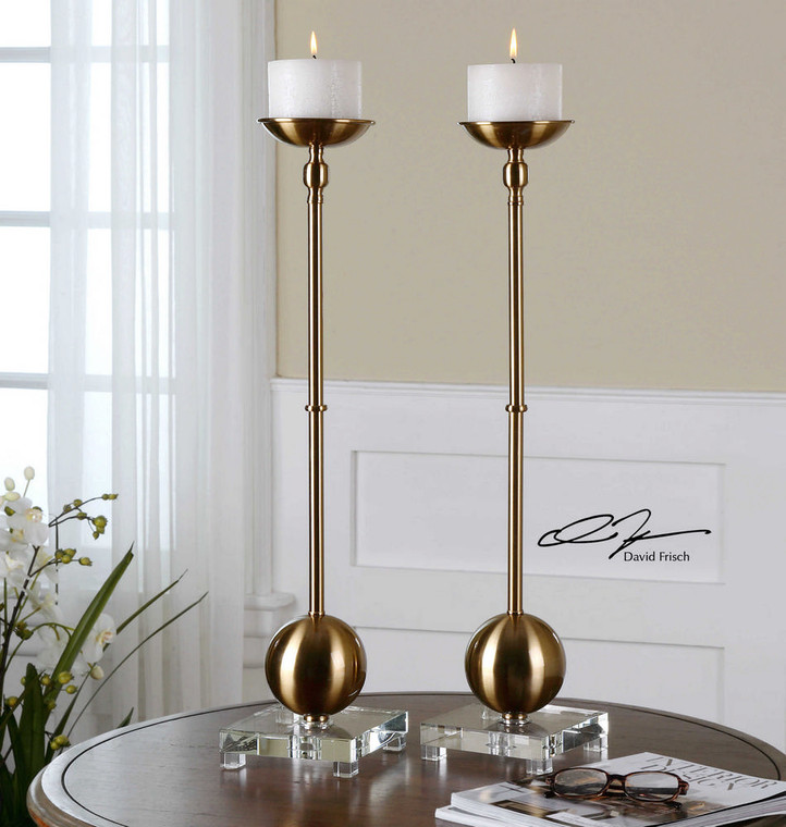 Laton Candleholders S/2 by Uttermost