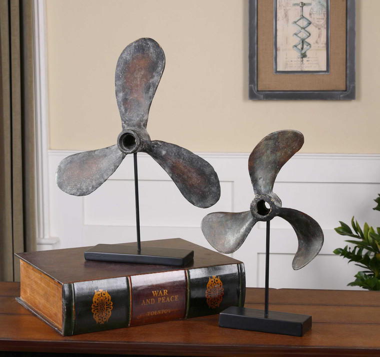 Propellers Sculpture S/2 by Uttermost