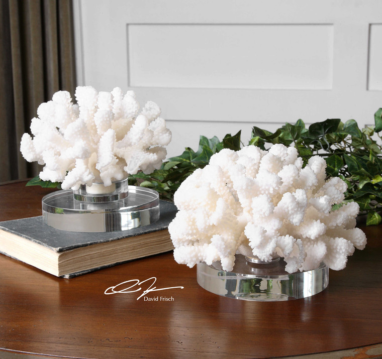 Hard Coral Sculpture S/2 by Uttermost