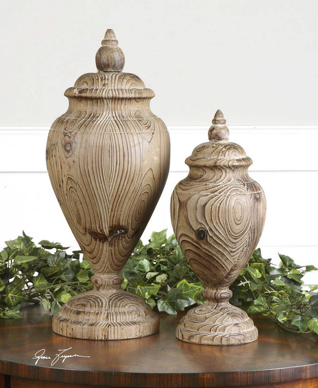 Brisco Finials S/2 by Uttermost