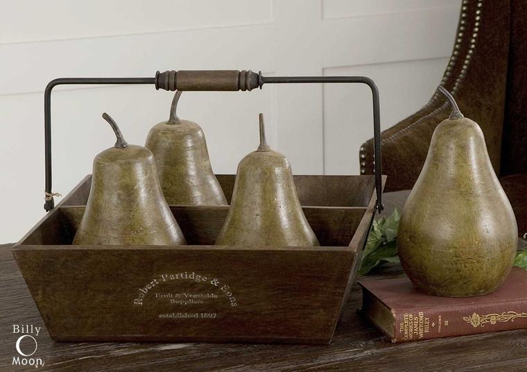 Pears In Basket S/5 by Uttermost