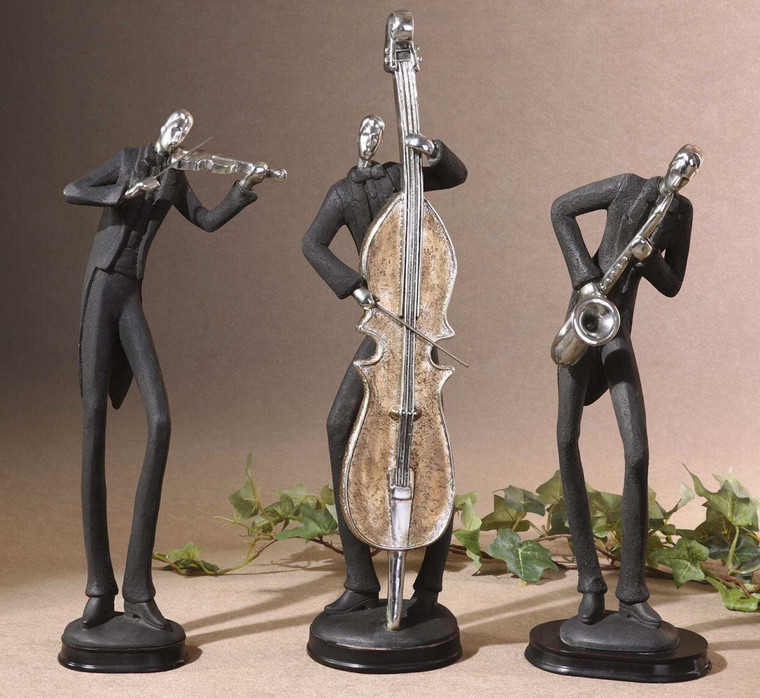 Musicians Figurines S/3 by Uttermost