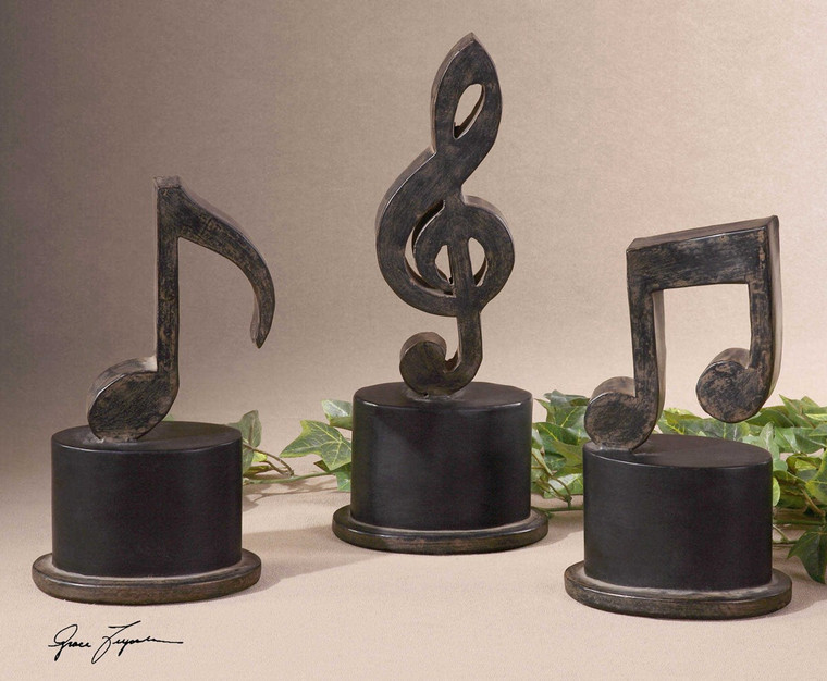Music Notes S/3 by Uttermost