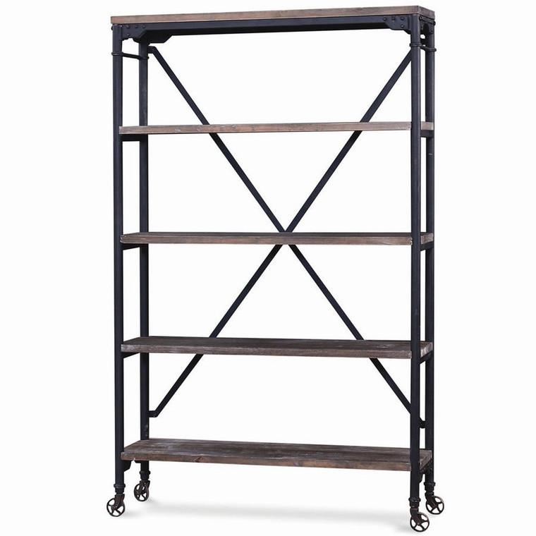 Mercantile Book Rack - Size: 183H x 122W x 41D (cm)