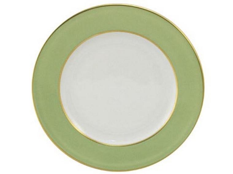 Limoges Legle Side/Cake Plate - Pastel Green