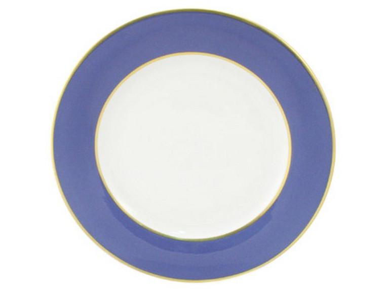 Limoges Legle Side/Cake Plate - Provencal Blue