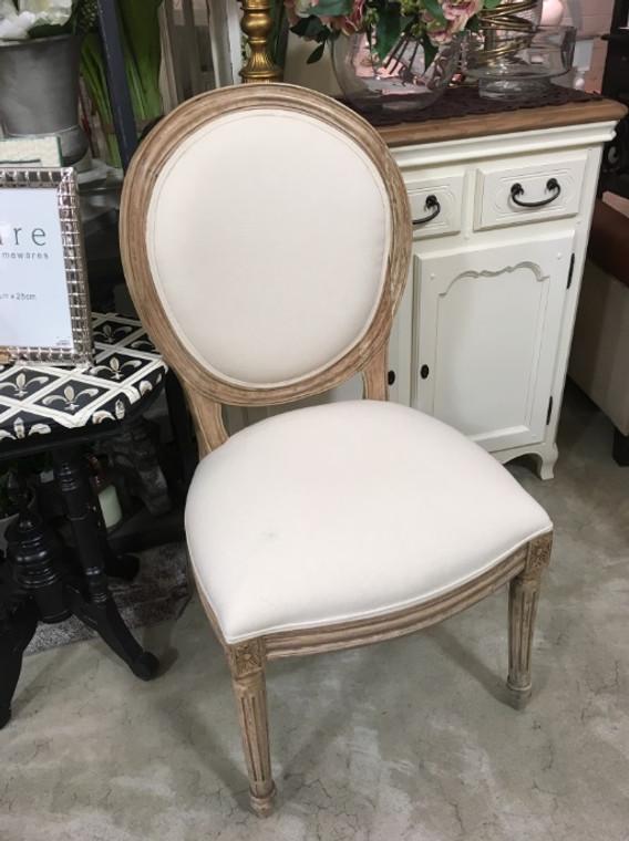 Tulip Dining Chair - Light Antique Oak - Size: 101H x 51W x 60D (cm)