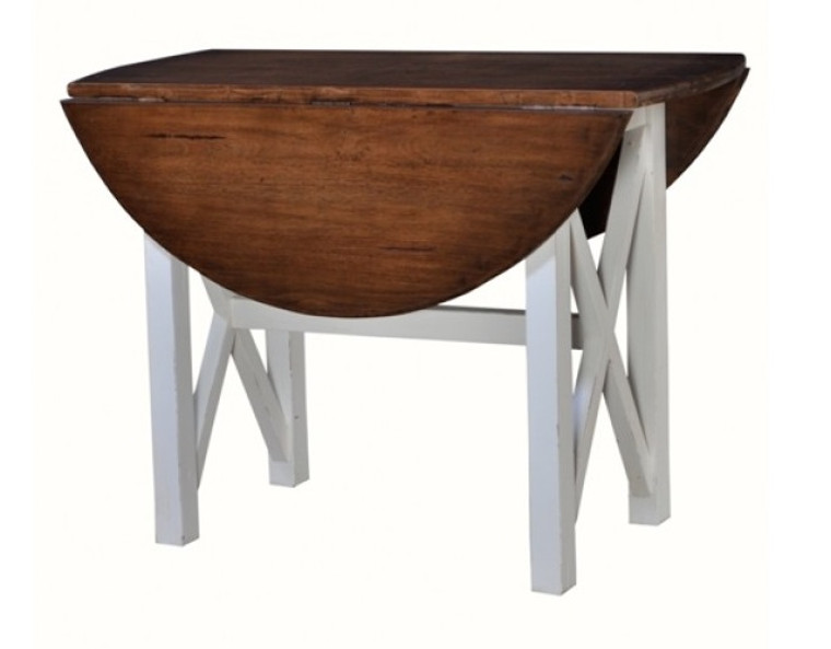 Fabulous Drop Leaf Table - White Light Distressed
