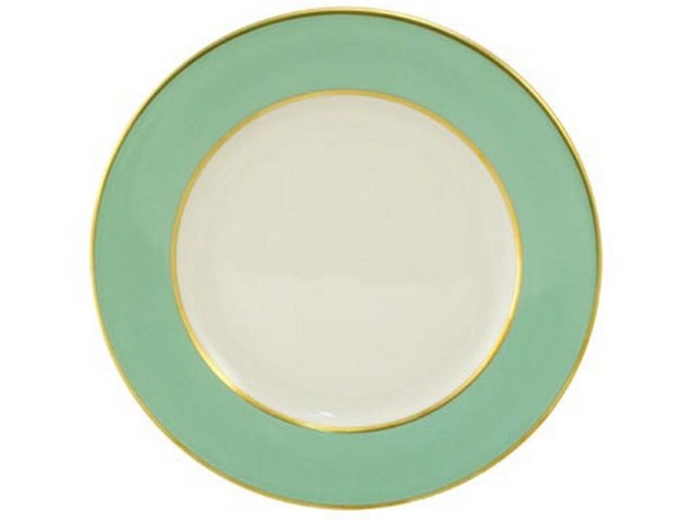 Limoges Legle Side/Cake Plate - Water Green