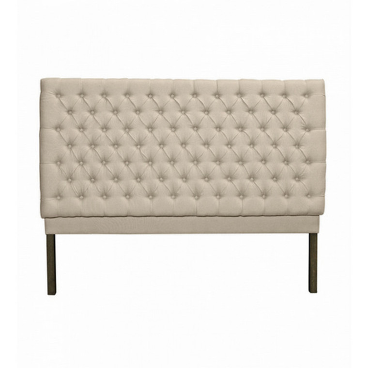 Consort Tufted King Bedhead - Natural Linen by Maison Living