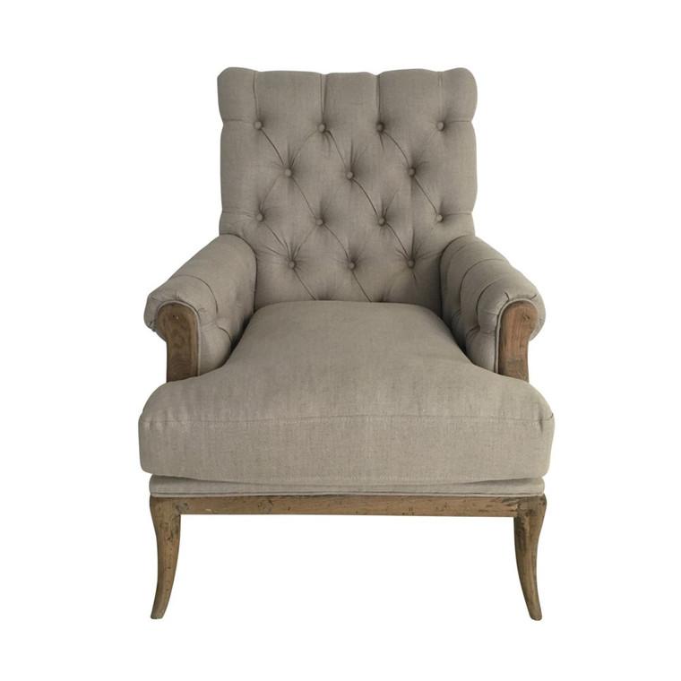 Consort Linen Armchair - Natural Linen