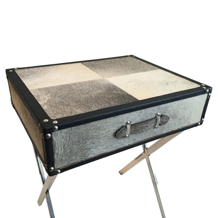 Limousin Leather Side Table