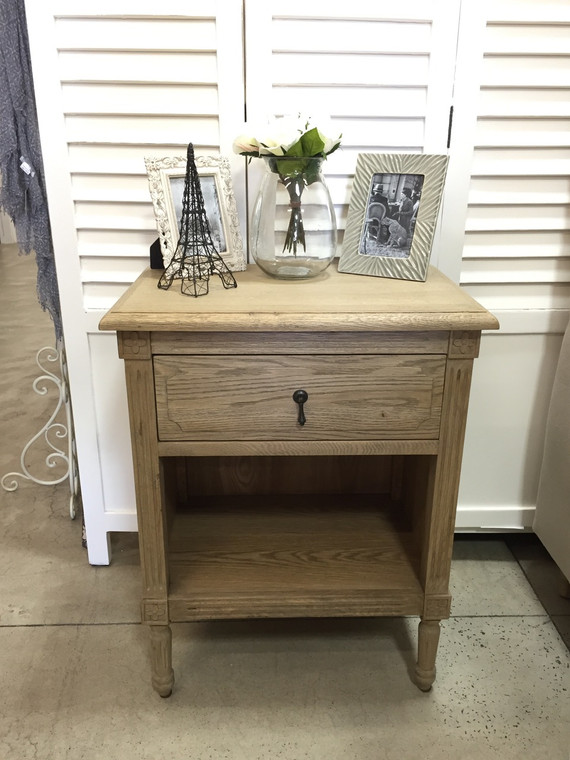 Versailles Open Bedside - Weathered Oak