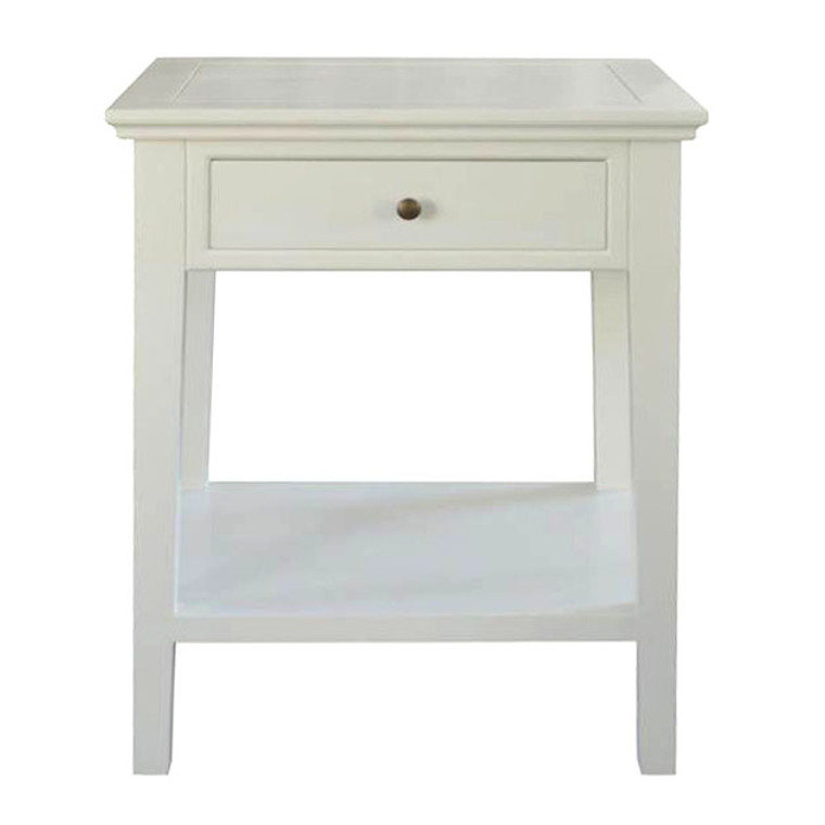 Alton 1 Drawer Bedside - White